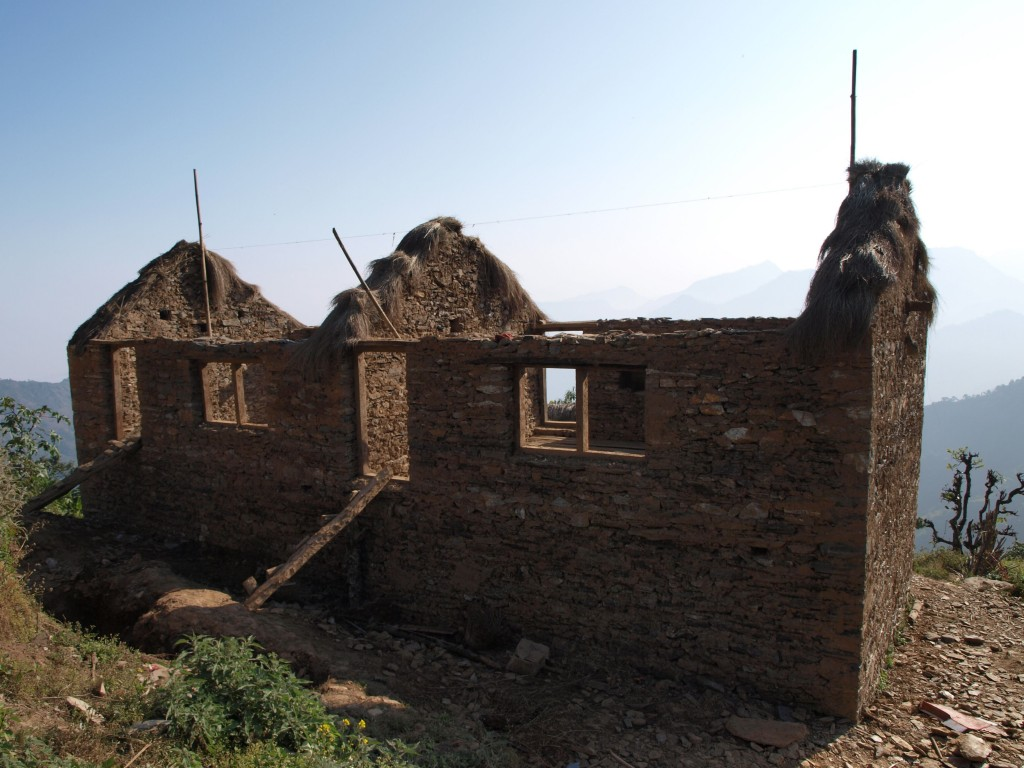 Et hus under opbygning